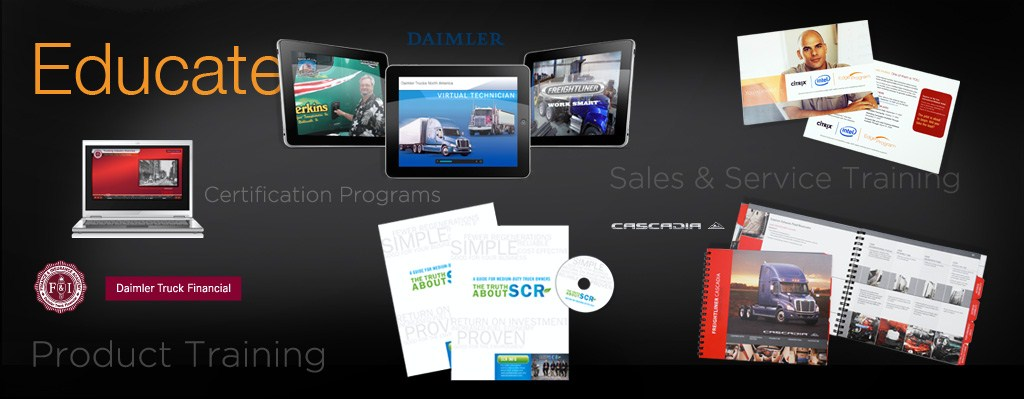 educate - product training, sales and service training, certification programs